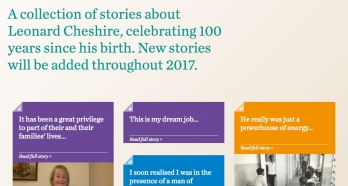 Leonard Cheshire Disability 100 Stories Microsite