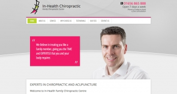In-Health Chiropractic Website Design and Development