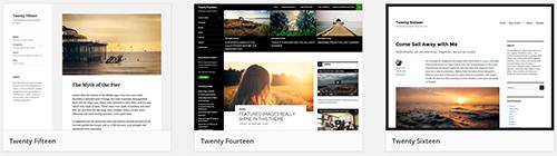Default WordPress Themes 2016