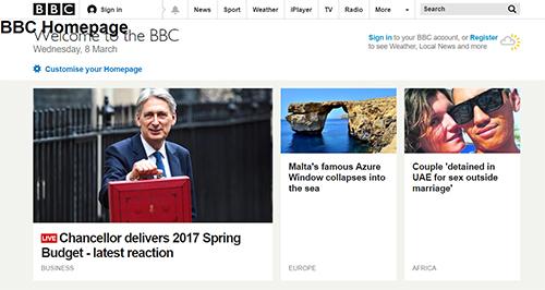 BBC h1 tag