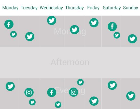 Simple social media schedule